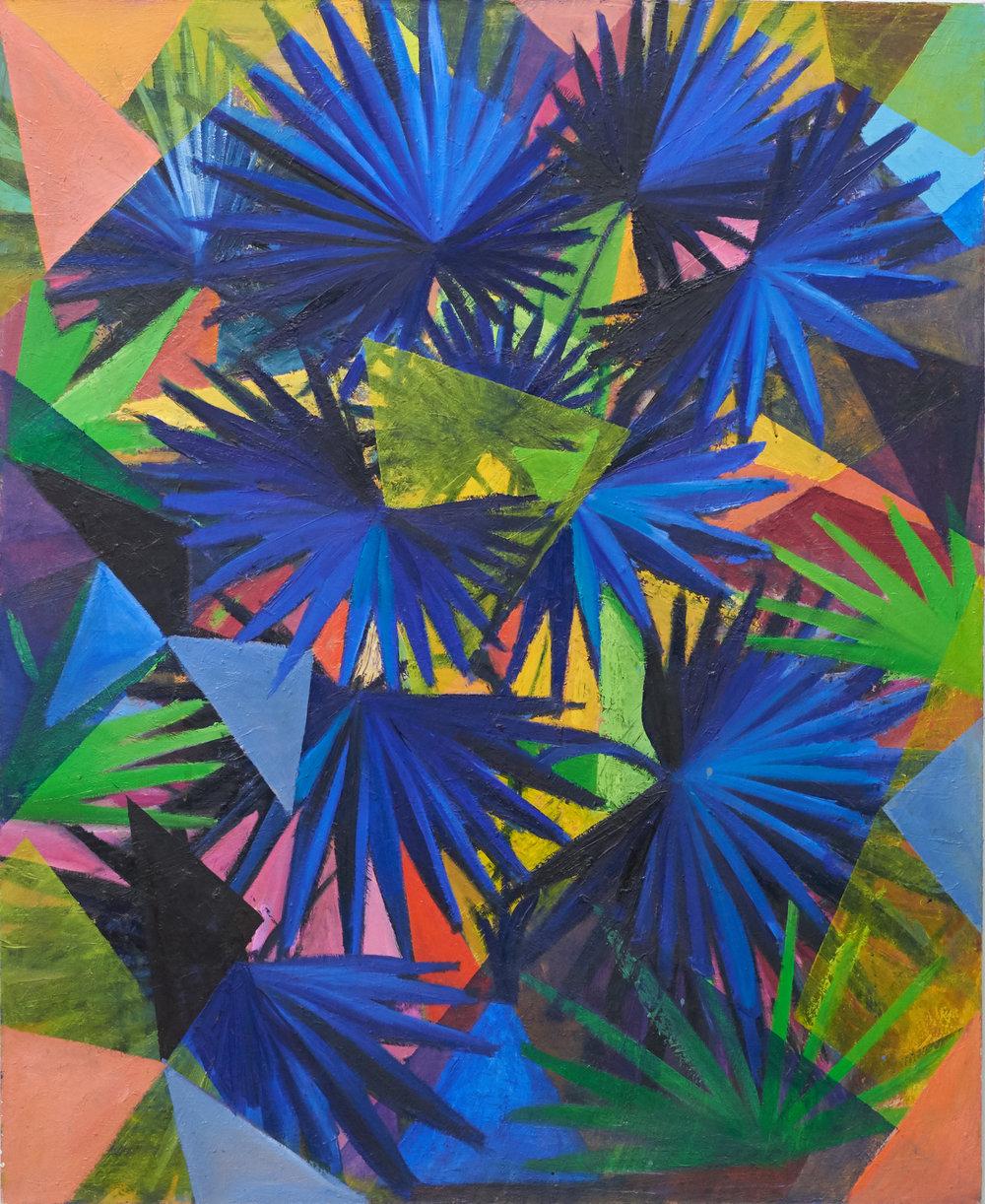 Blue Kaleidoscope Palm