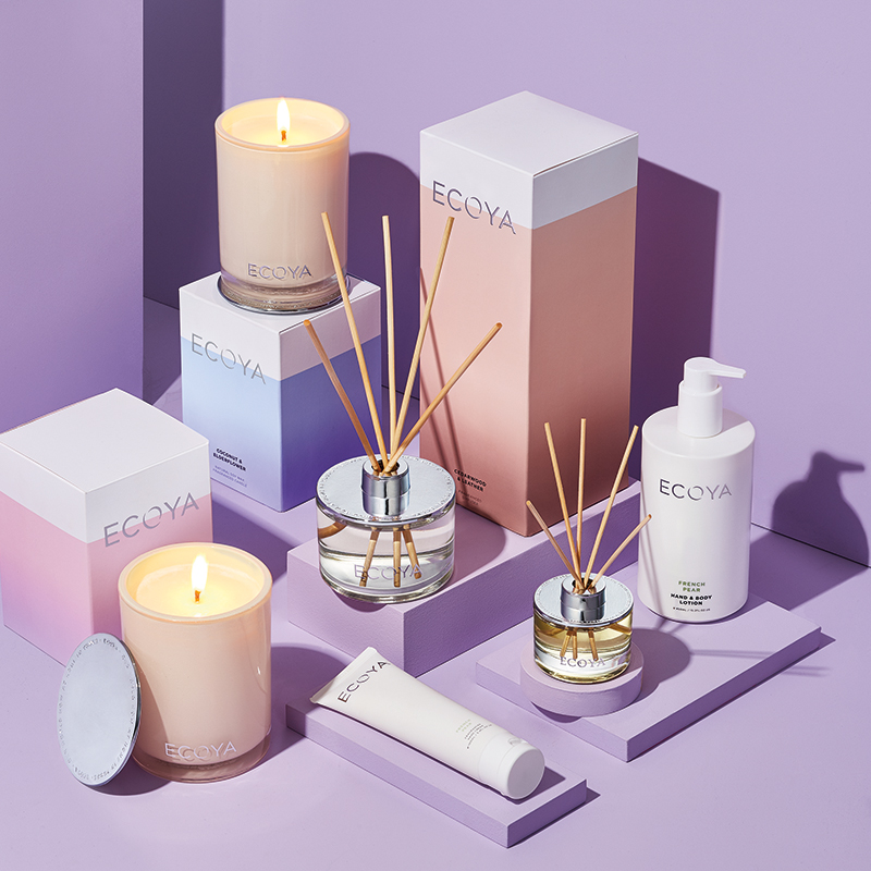 ECOYA HOME FRAGRANCE PRODUCT SHOT.  CLIENT: FARMERS DEPARTMENT STORE | ART DIRECTOR: CATHERINE JACKA | PHOTOGRAPHER: STEPH MONAGHAN | STYLIST: MONIQUE FORBES.