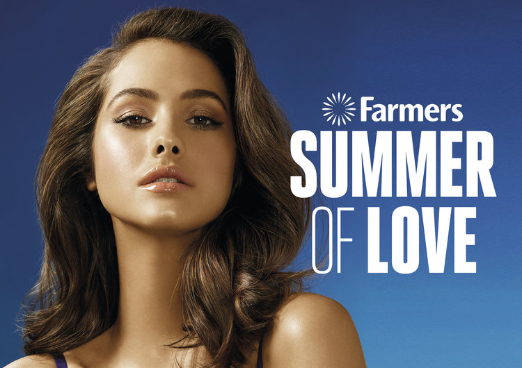 SUMMER OF LOVE CAMPAIGN.  A summer catalogue featuring beauty, lingerie and small appliances in the lead up to Valentine's Day. Client: Farmers. Role: Art Director.