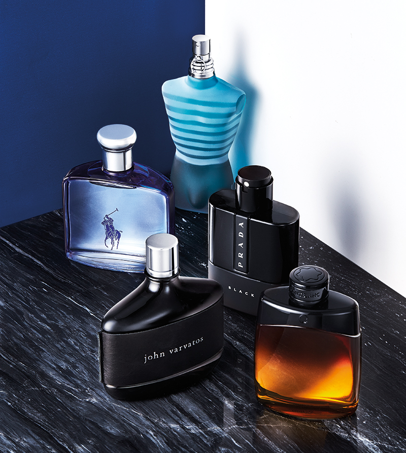MEN'S FRAGRANCE FEATURE.  FARMERS. C JACKA, S MONAGHAN, M FORBES.
