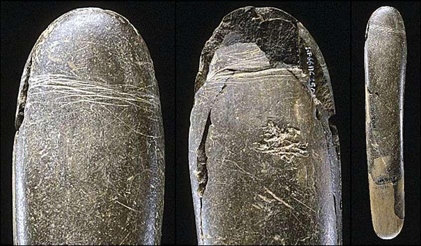 29000 до н.э.  Эпоха Палеолита. Каменный фаллос обнаружен в Германии в пещере Höhle Fels.Вырезан из мелкозернистого алевролита.