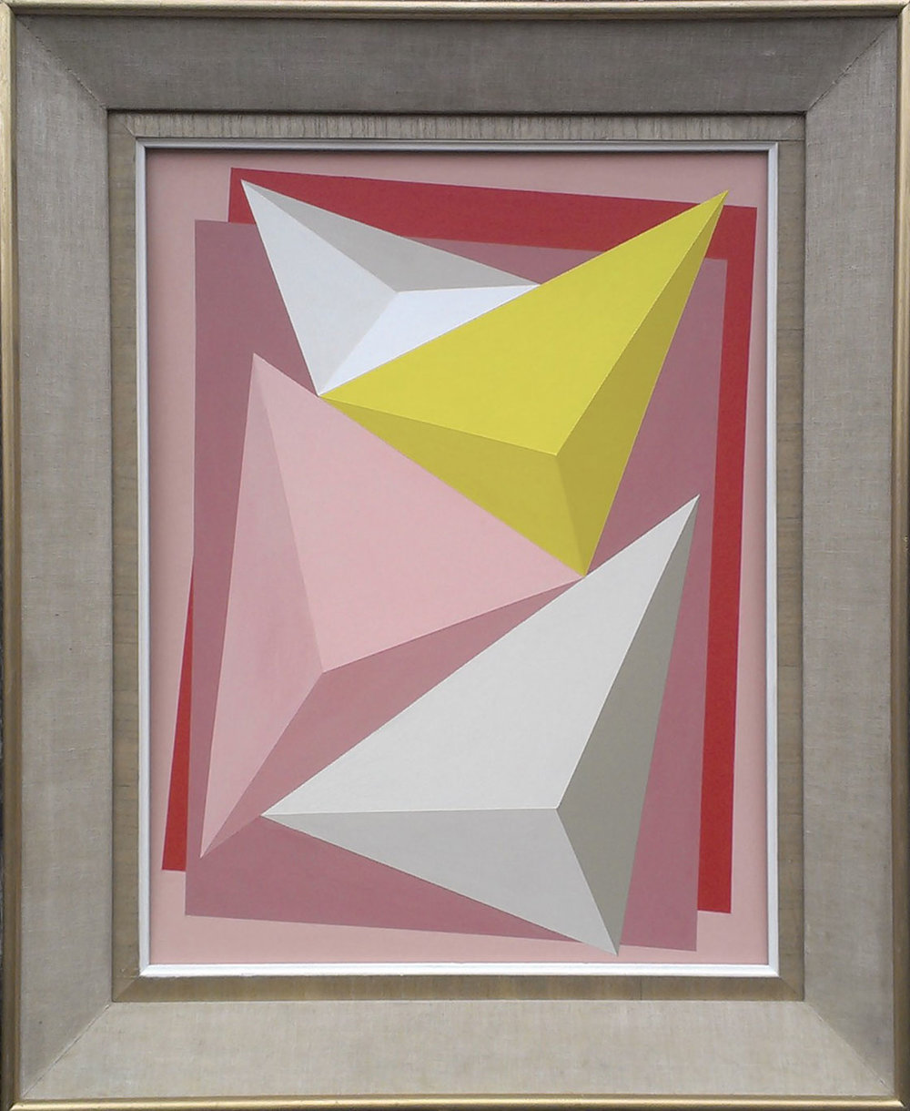 Prisms Aligned (Pink/yellow)