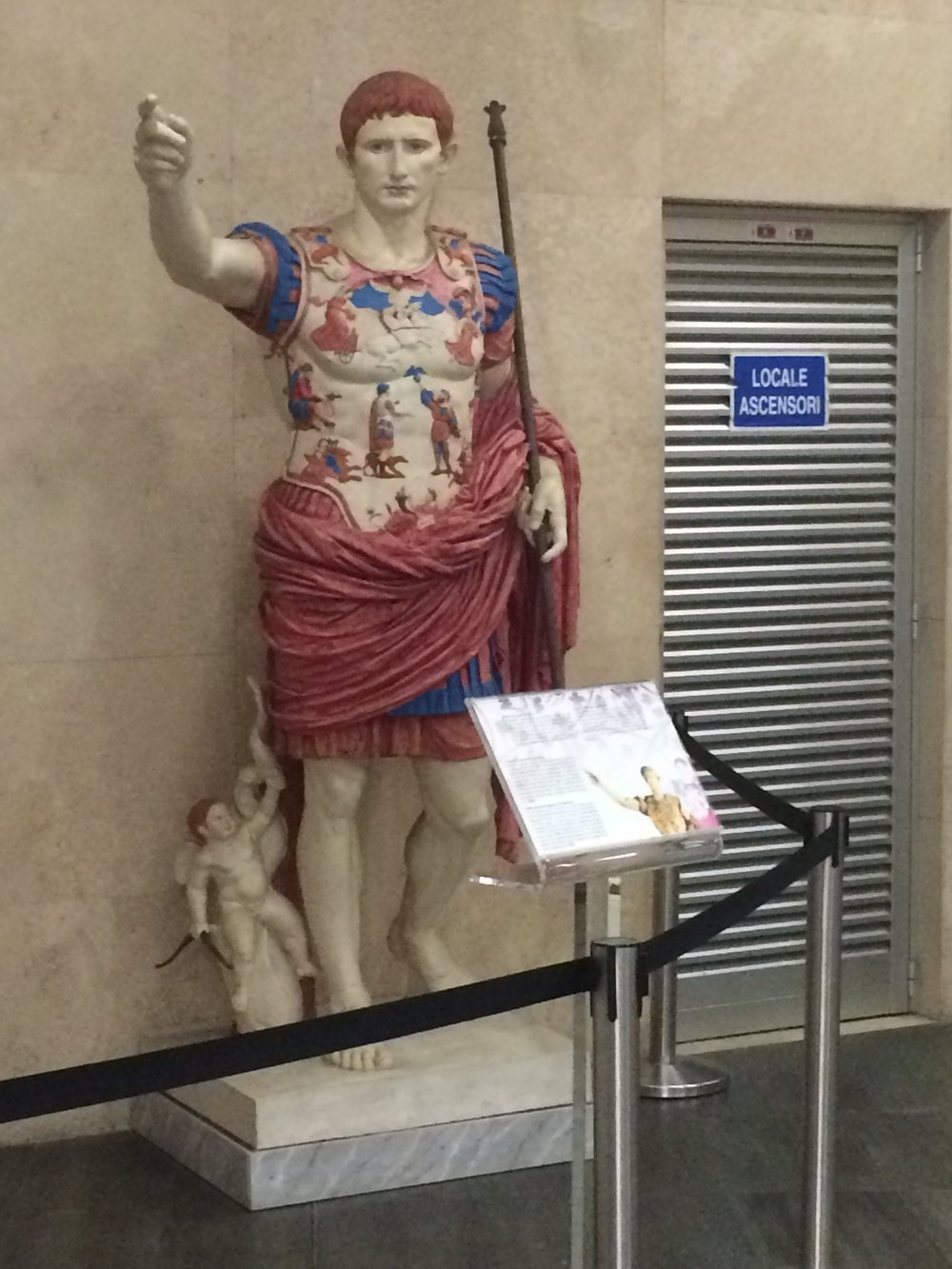 Then Caesar Augustus (I think) shows points you toward the metal detectors.