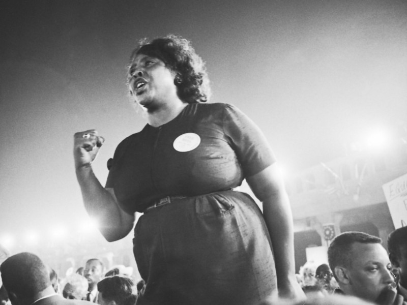 Fannie Lou Hamer: activist, Civil Rights Leader, and one of the key organizers during the Mississippi Freedom Summer project for voting rights.