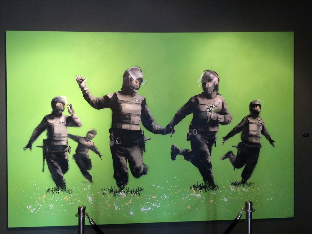 From the Banksy exhibit in Amsterdam at the Van Gogh Museum, September 2016