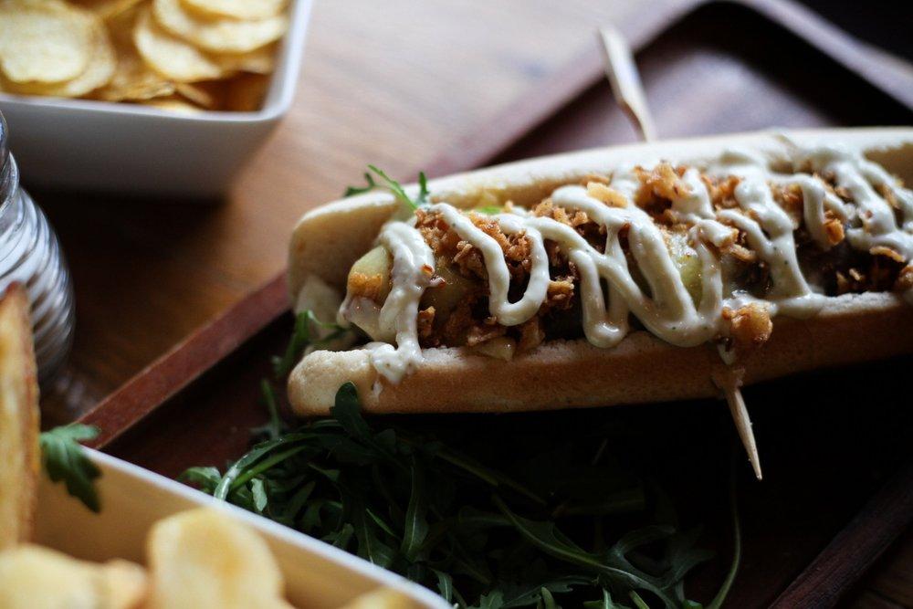 Hot Dog at The Cowley Retreat