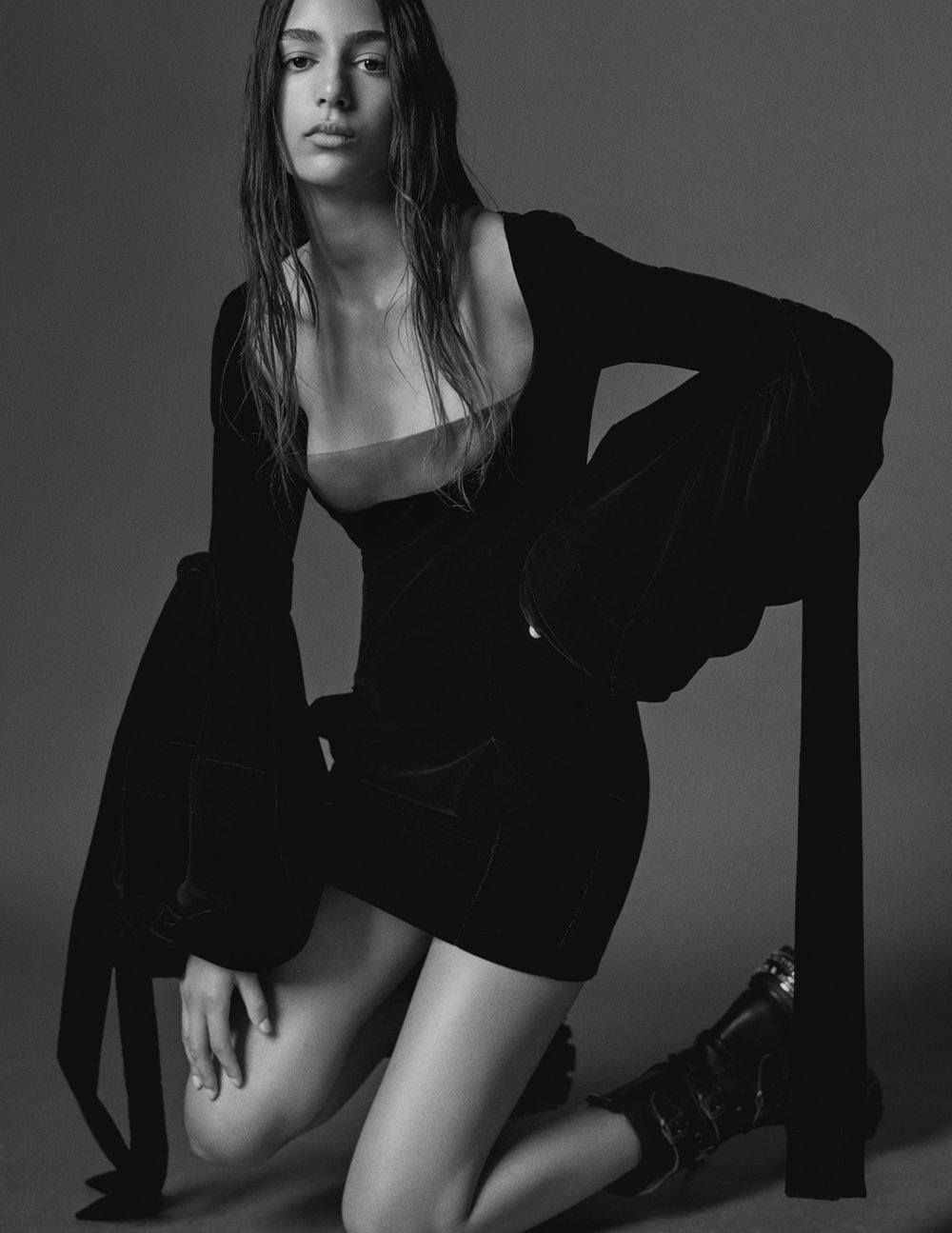 Nora Attal by Mario Testino