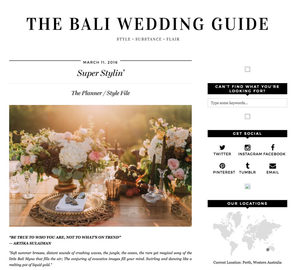The Bali Wedding Guide