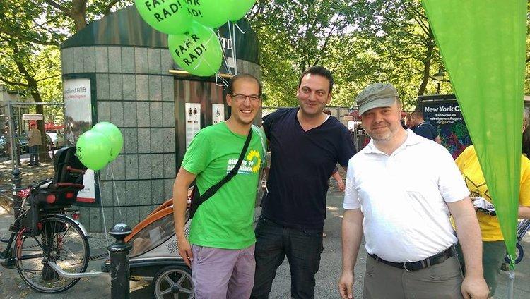 Fahrradsternfahrt 2016 zusammen mit Urban Aykal und Sebastian Serowy.