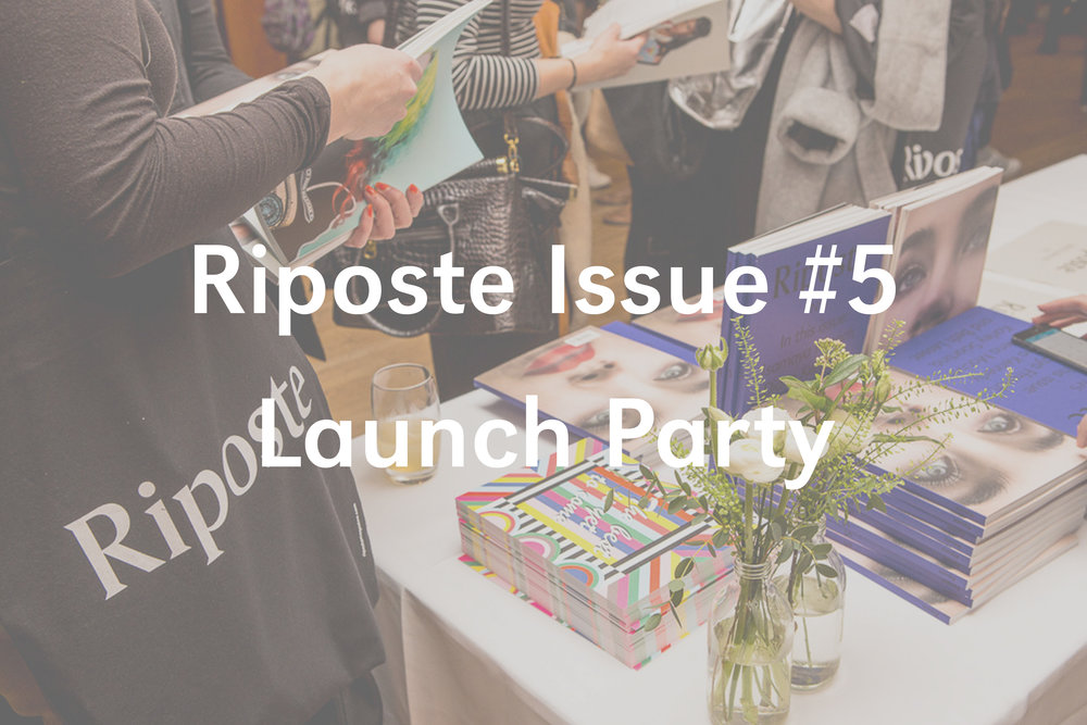 Riposte Issue #5 Launch Party