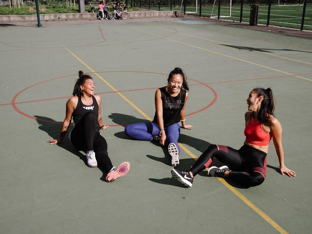 Laura, Rachel and Kim of Food & Lycra