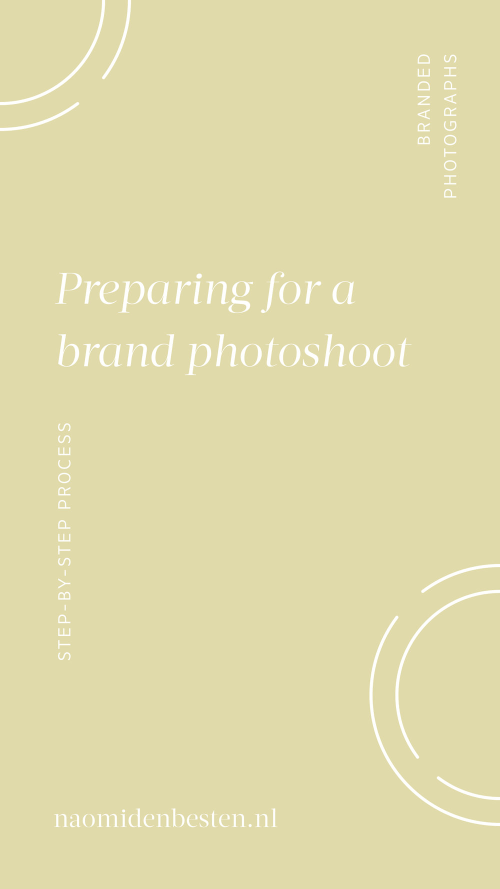Preparing for a brand photoshoot