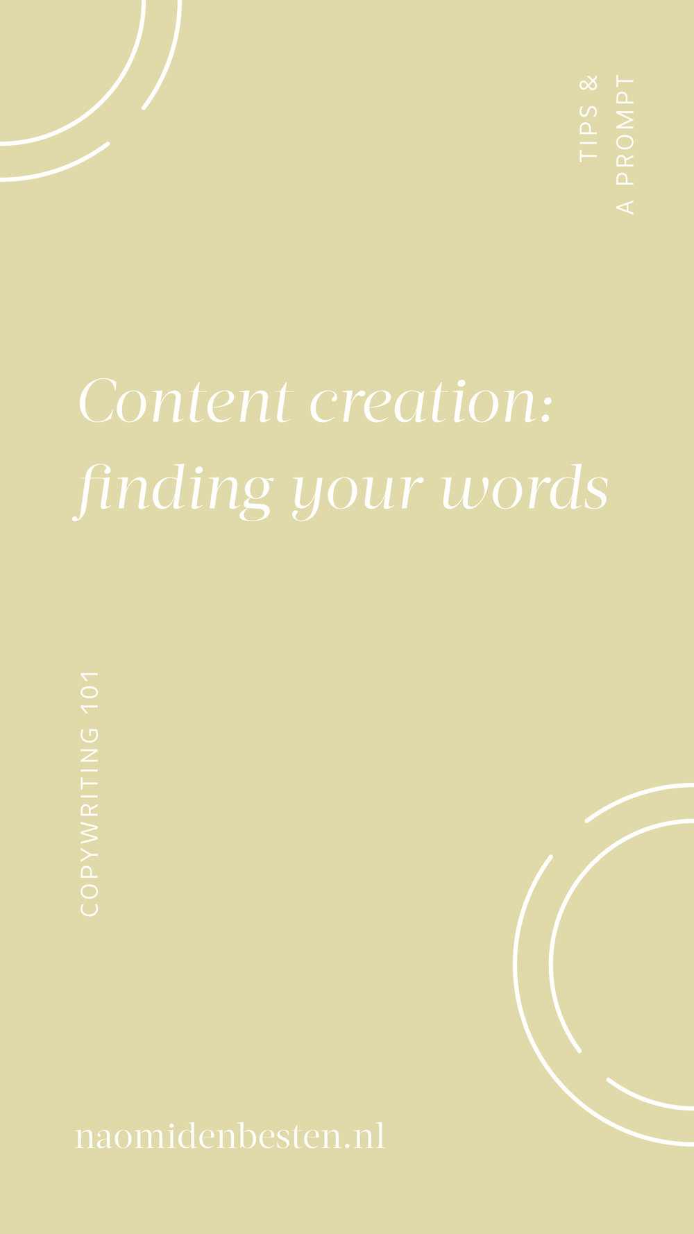 Content creation - Finding your words