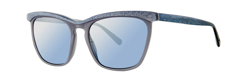 Vera Wang 'Rilynn' // cat eye acetate style featuring a sparkle brow and temples + the perfect millennial blue