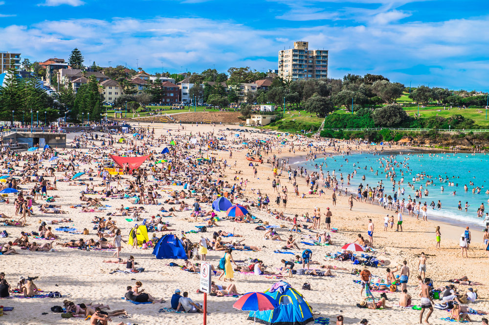 Coogee Beach Crowd