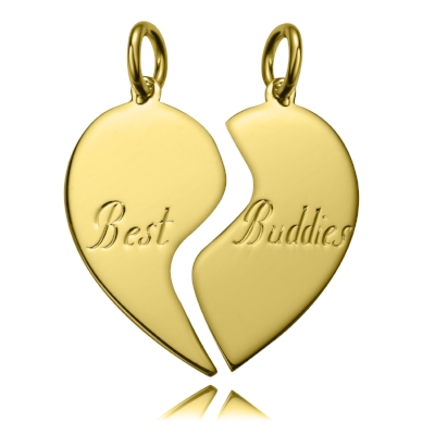 9ct Gold Broken Heart Dog Tag