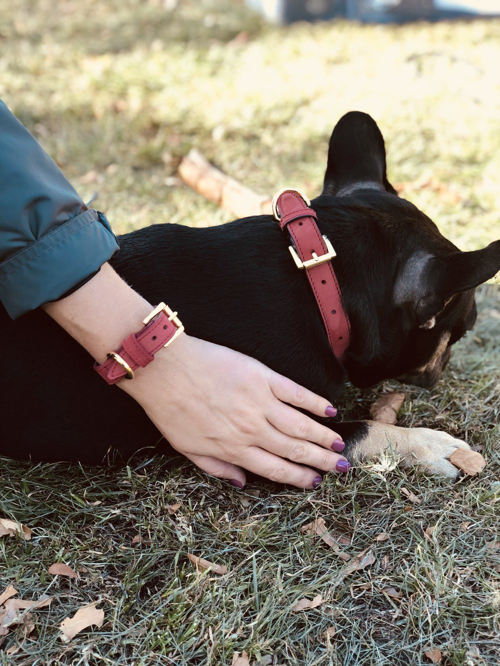 Always wanted to match with your fur bestie? Our luxury leather bracelets & matching dog collars let you do just that! #BestFriendGoals -