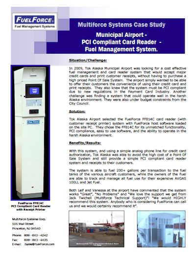 Case Study - Municipal Airport PCI Compliant Card Reader Fuel Management System