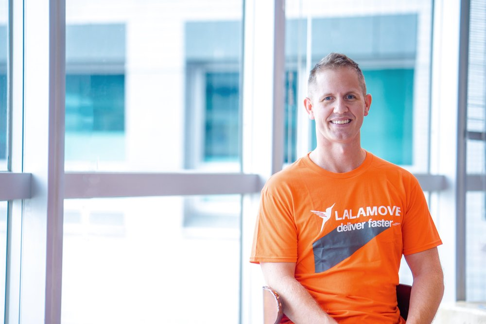 Blake Larson, Lalamove's Managing Director of International  (Picture credits:  WHUB )