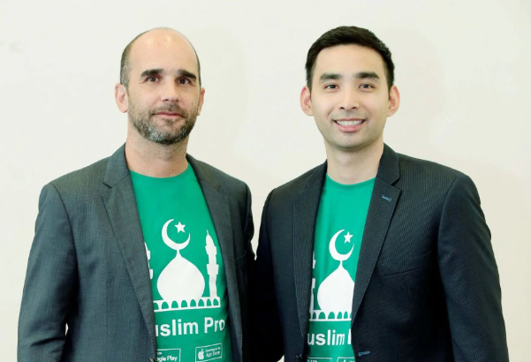 Erwan Mace, Founder and CTO of Bitsmedia (left) and  Nik Emir Din