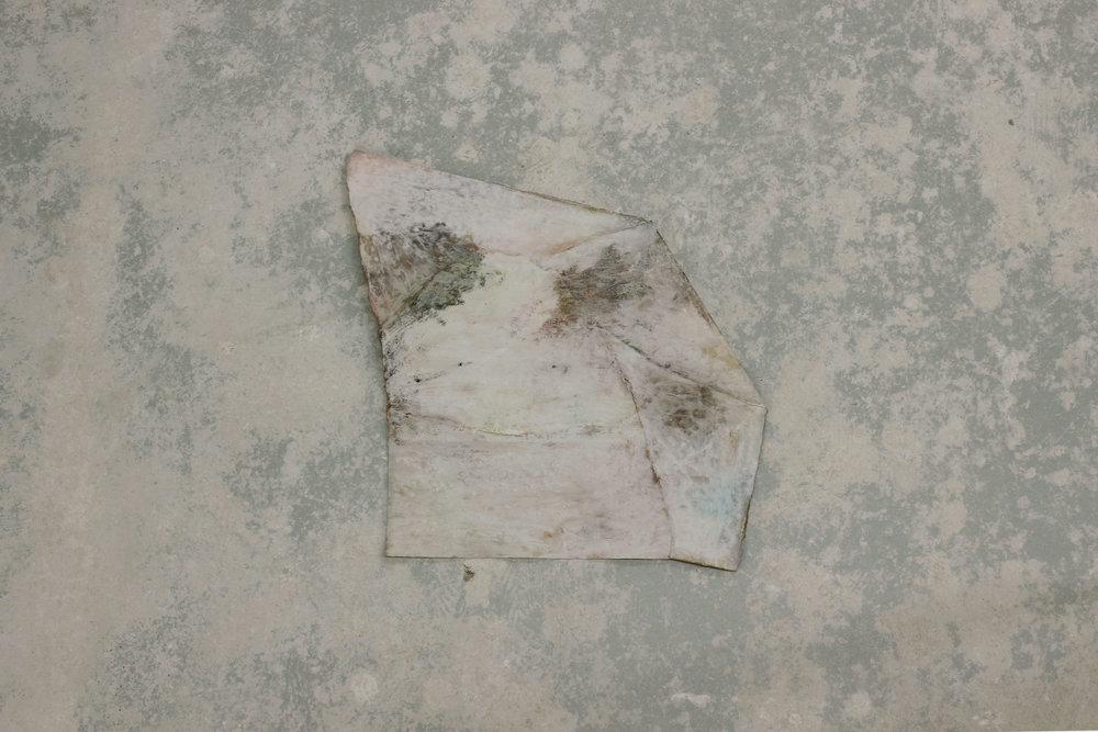 Black Corner,pigment, plaster, paper, 21 x 34 cm, 2016