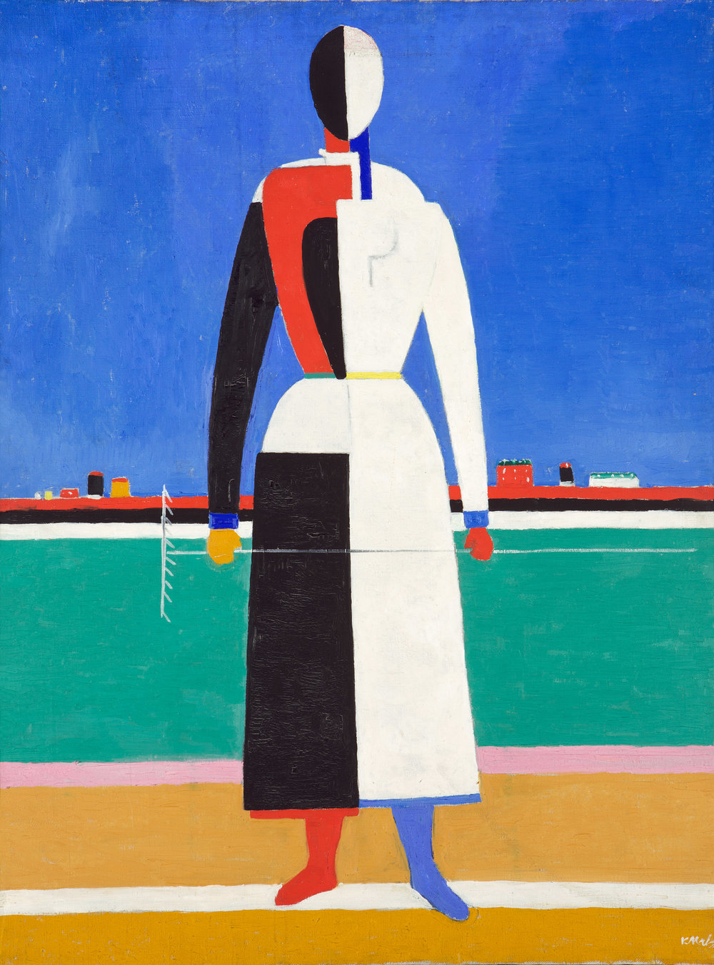 Kazimir Malevich. Woman with a rake, 1932