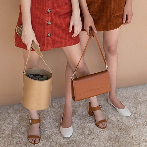 Faux Leather bags and shoes by  Matt and Nat