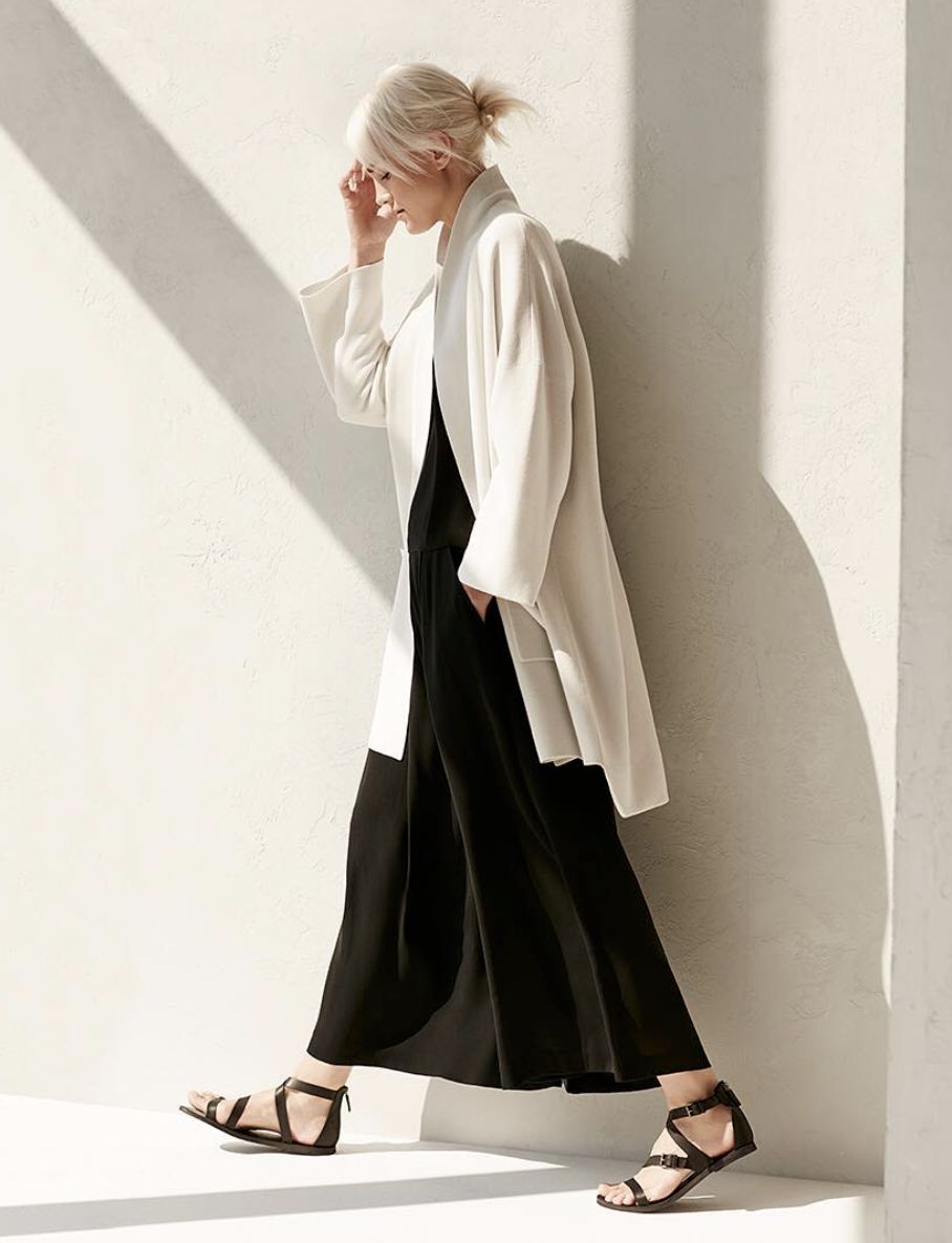EILEEN FISHER PLUS (ECO) - Famous american brand that also has the plus size line. All their clothes are made out of high-quality natural fabrics in a minimalistic and casual style. I would say it's a great place to buy your wardrobe essentials.$$, US, Sizes: 0 - 24, Worldwide delivery.