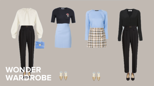 aecf0019c87 Shopping and wardrobe tips for the petite body type. Capsule wardrobe  examples