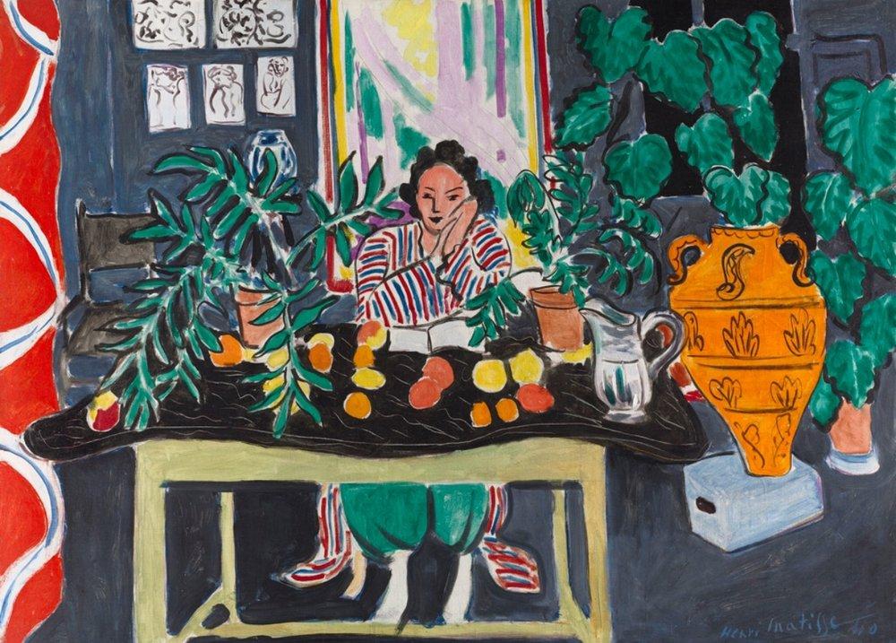 Henri Matisse - Interior with an Etruscan Vase (Intérieur au vase étrusque), 1940