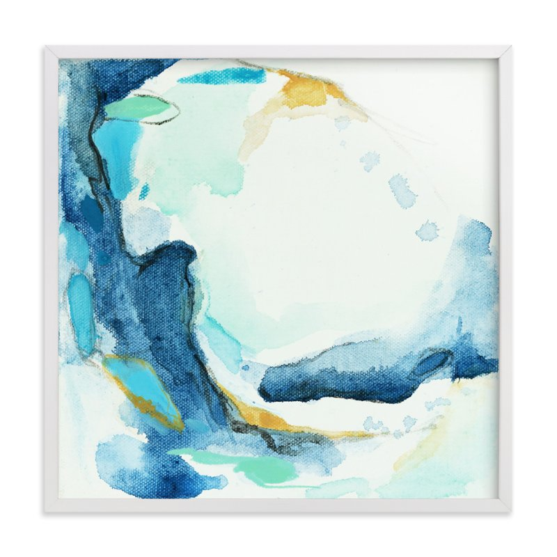 Tide Pool #1Art Print - This art print has a soothing, watery color palette with minty greens and pops of gold. I think giving a piece of art is such a meaningful, personal gift and really comes from the heart. Starting at $44 for a framed 8x8 print.