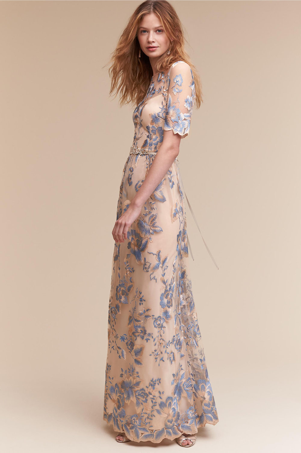 Gulia Dress - Back to BHLDN, because they seriously have some amazing wedding buys and I legit cannot believe this dress is budget friendly. Limited sizes are available, so you'll have to move quickly, but with blue florals and metallic gold thread, this buy was too good to leave off the list.Price: Retail $230, now just $140