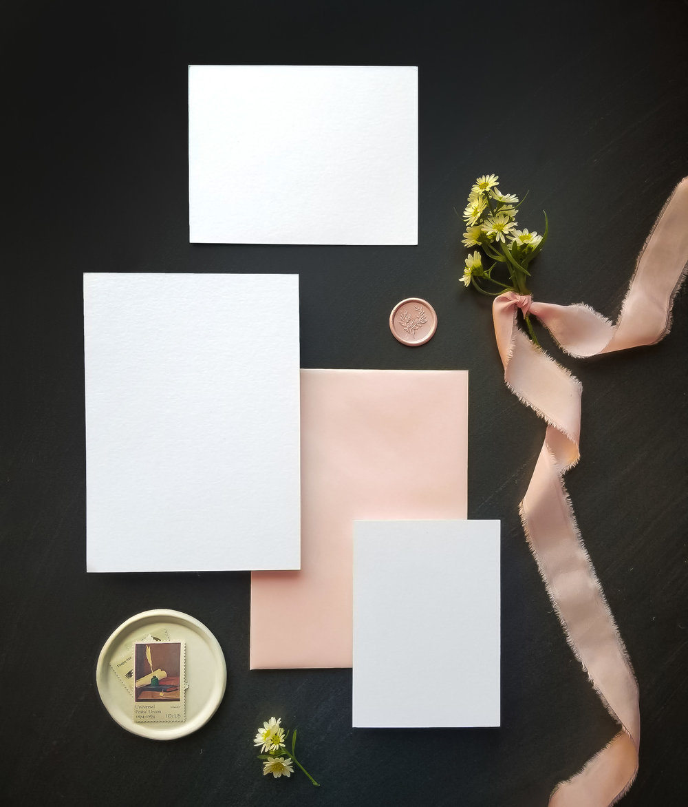 Stationery Suite Sets - This set comes with 12 different styled stationery images to showcase your work in a variety of ways. Some images have the full suite, while others focus solely on the invitation or details.