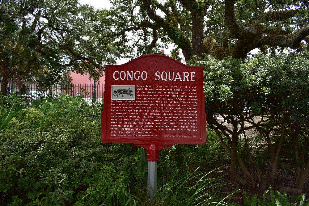 Congo Square Historical Marker