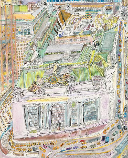 Olive Ayhens' ONTIME / Grand Central
