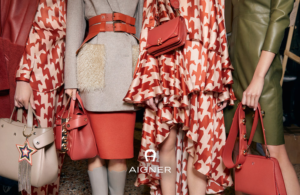AIGNER CAMPAIGN FALL / WINTER 2017   RESET COLLLECTION SHOT AT THE FASHION SHOW IN MILAN Shot by:    K evin Tachmann