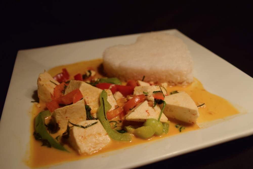 Panang Curry with Tofu (Vegetarian and Vegan friendly)