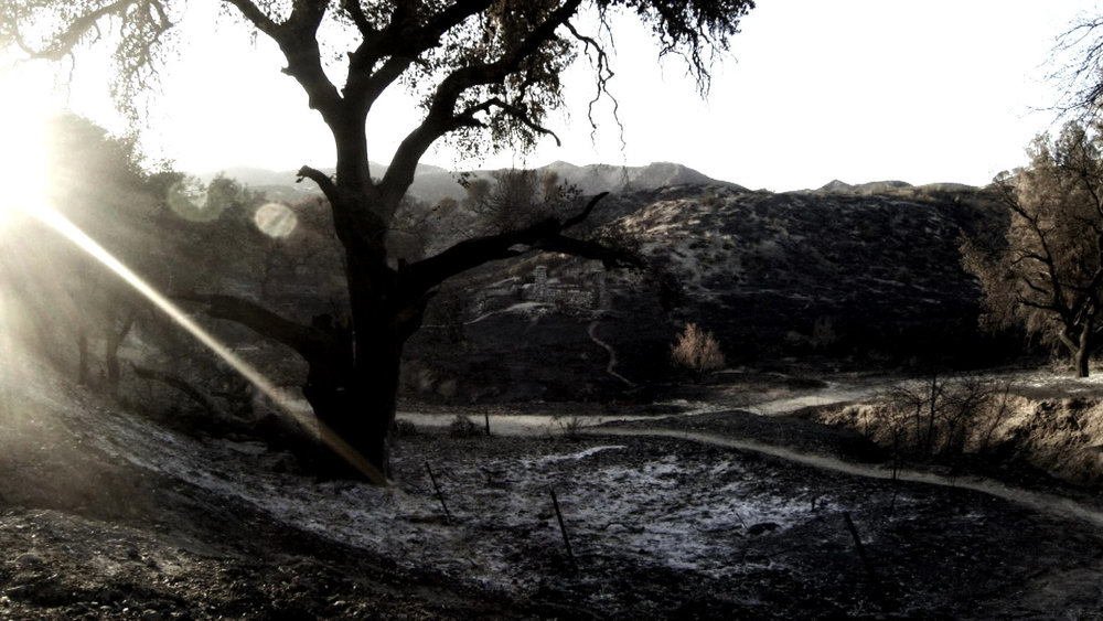 The GUIDING LIGHT video was filmed in the aftermath of the 2016 Sand Fire, east of LA's Santa Clarita Valley