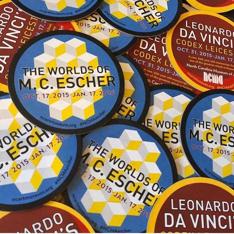 Coaster set for  The Worlds of M. C. Escher  and  Leonardo Da Vinci: Codex Leicester