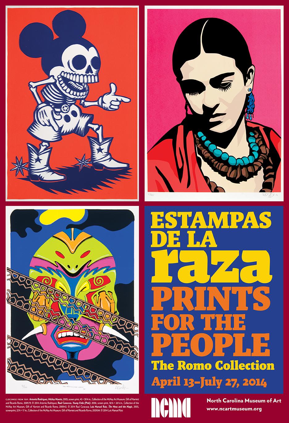 Promotional poster for  Estampas de la Raza/Prints for the People