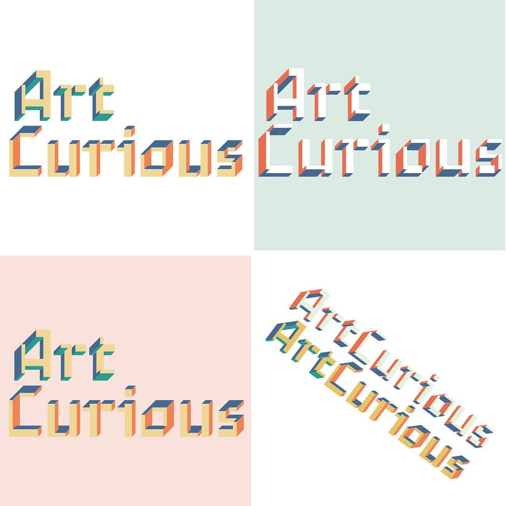 ArtCurious podcast identity