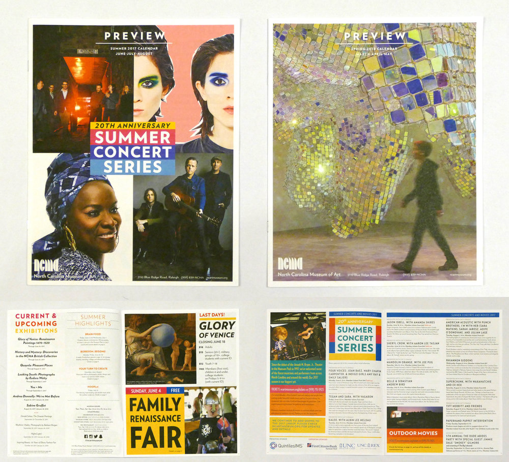 Preview  magazine and calendar, design concept and art direction