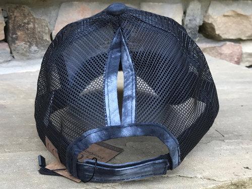 e22ac672069 Liberated 4x4 - Messy Bun High Ponytail Adjustable Mesh Trucker Baseball Hat