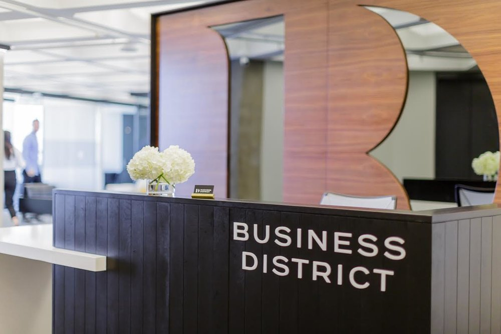 Business District Greeting Lobby and Receptionist Area