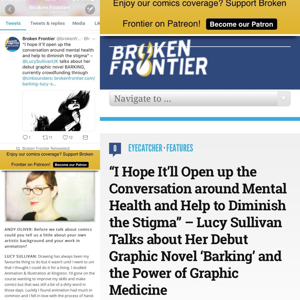 Read the  Broken Frontier  Article with Andy Oliver