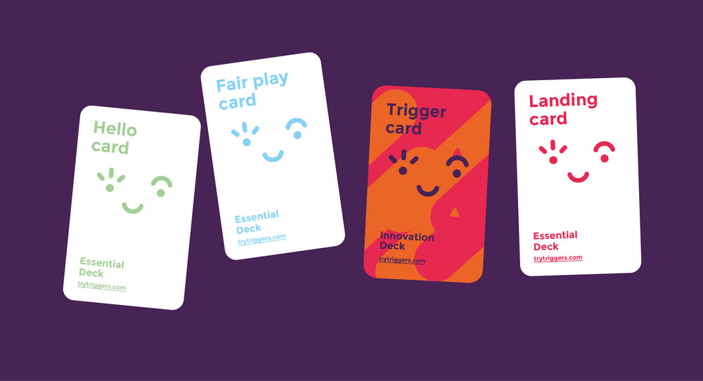 Triggers cards - These are all the different type of cards you'll find on this creative tool.