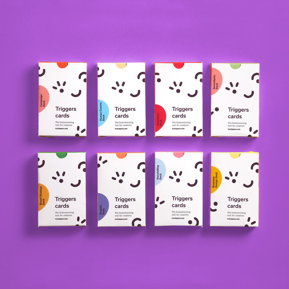 The complete collection - The ultimate brainstorming tool.Use it for workshops and ideation sessions. Solve any creative project you are facing.