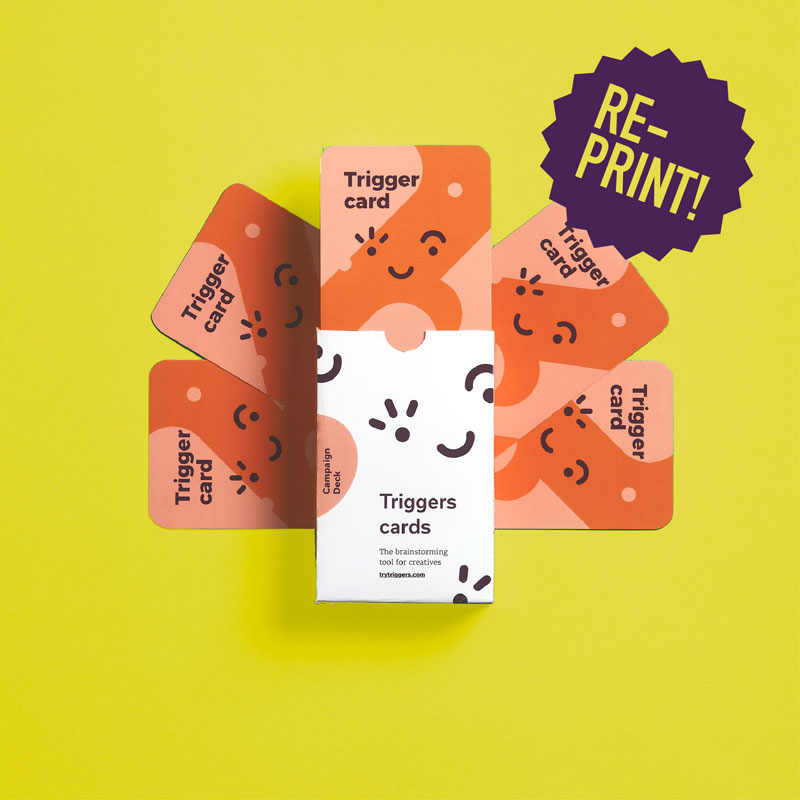 Essential Deck from Triggers cards. Ideation method for creative teams