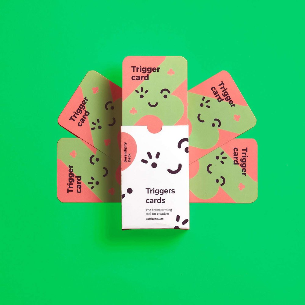 Serendipity Deck - The deck for the out-of-the-box thinkers.Use it to create ads, campaigns, ambient ideas, space ideas and any other challenges.