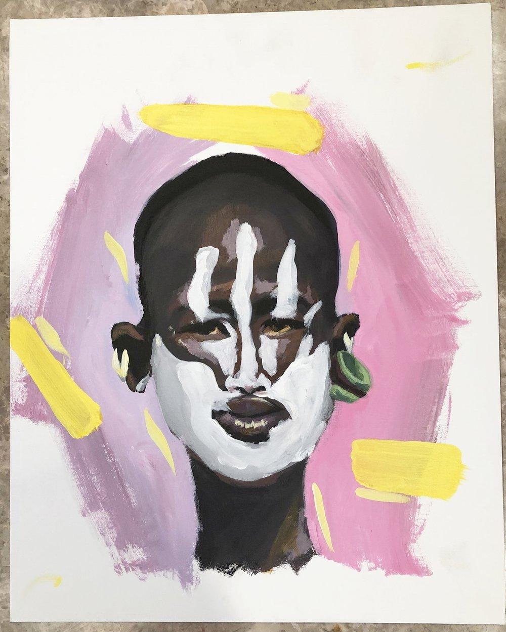 African Face Paint Series 1 010 Heri Watu